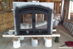 Wood Burning Fireplace Install